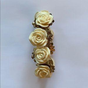 Rose white and gold bracelet